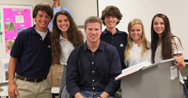 Chaplain John Hugh Tate and Students